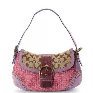Authentic COACH Signature Tweed Pink/Purple Bag